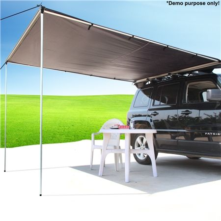 25m X 3m Grey Pull Out Car Awning