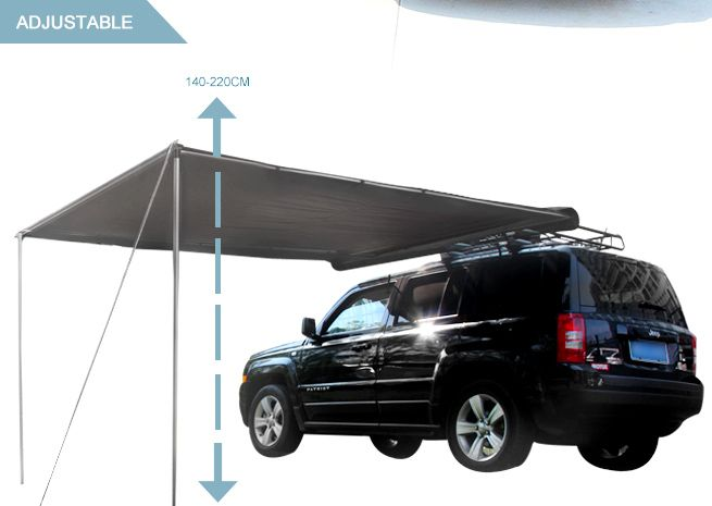 2.5m x 3m Grey Pull Out Car Awning Outdoor Living Tent ...