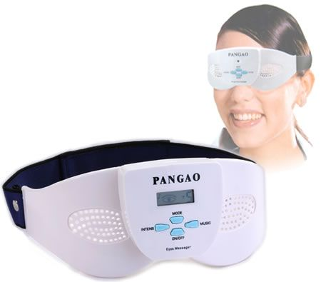 LCD Screen Electronic Eye Massager with Built-in Music Player