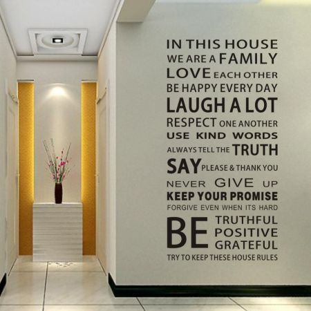Family House Rules Stickers Wall Decal Removable Art Vinyl