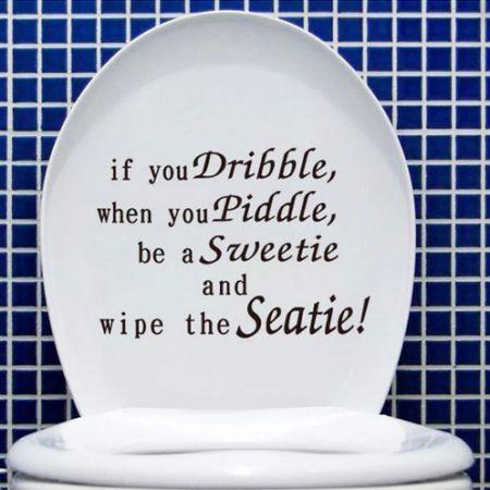 Toilet Seat Wall Sticker Vinyl Art Wallpaper Removable Bathroom Decals Decor