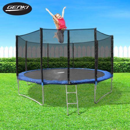 Genki 12ft Trampoline With 6ft Safety Enclosure Crazy Sales