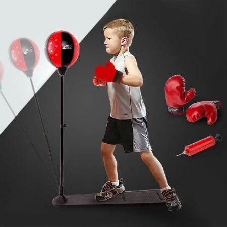 new speed ball stand punching boxing pouch bag glove set