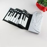 LUD Flexible Roll Up Electronic Soft Keyboard Piano Portable 49 Keys