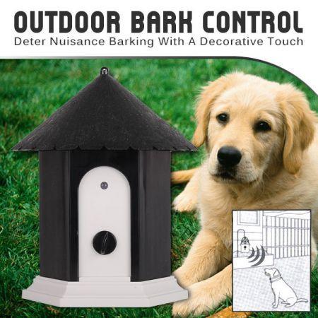 Outdoor Ultrasonic Bark Control Black
