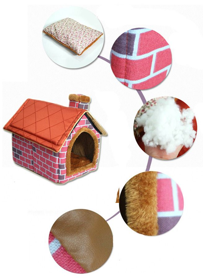 Indoor Pet Soft Plush House Kennel Small Crazy Sales
