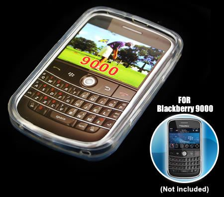 Soft Crystal Gel Skin Cover Case for BlackBerry Bold 9000 Mobile Phone - Transparent Clear