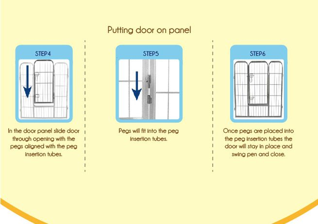 Folding 8 Panel Pet Playpen Small Crazy Sales