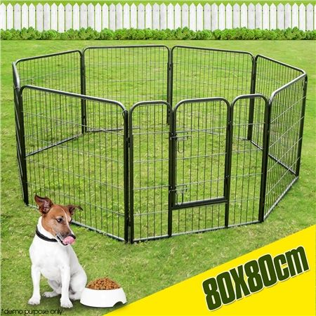 Folding 8 Panel Pet Playpen-Medium
