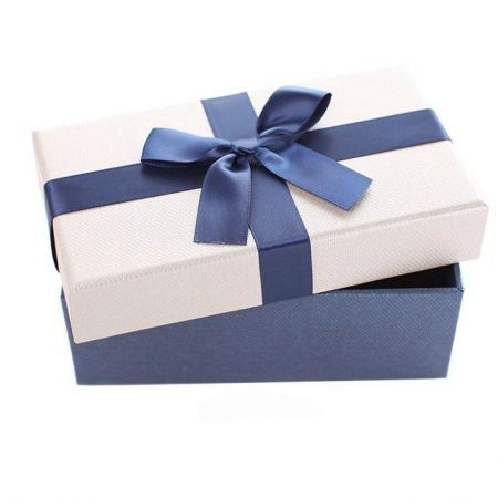 Elegant Blue And White Gift Boxes Case For Wedding Party Xmas Birthday Present Small Size