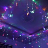Multi Color 16 Butterfly 104 Led Curtain String Fairy Light 2X1M Xmas Party