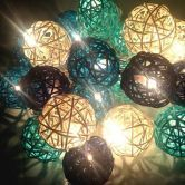 20 Led Rattan Ball Fairy String Lights Party Wedding Home Christmas Decor