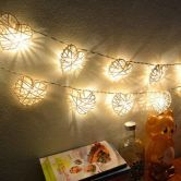 20 Led Warm White Rattan Love Ball Fairy String Lights Party Wedding Home Christmas Decor