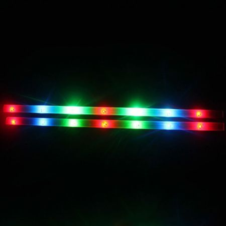 New 3 Modes Colorful Cycling Bike Bicycle 15 Led Safety Wheel Tire Spoke Light Strip