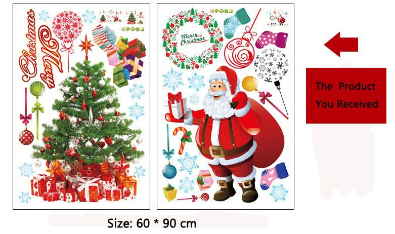 Merry christmas home room decor removable wall sticker for Christmas decoration deals
