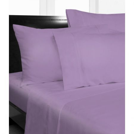 Double Bed Microfibre Lilac Fitted Sheet Combo Pack