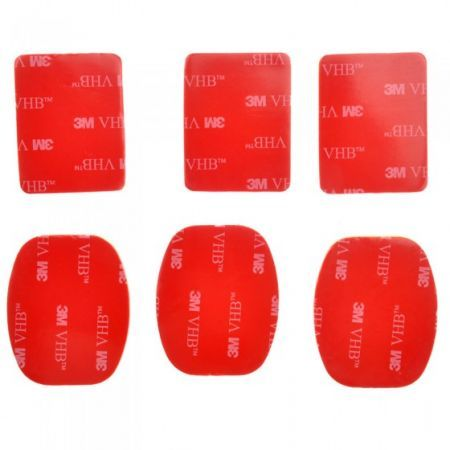 6pcs 3M Sticker Adhesive Pad Set for GoPro HD Hero 3+ 3 2 1 Camera Helmet Mount ST-14
