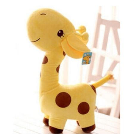 Cute Giraffe Plush Doll Toy Collection Decoration Plaything for Kids Children Yellow