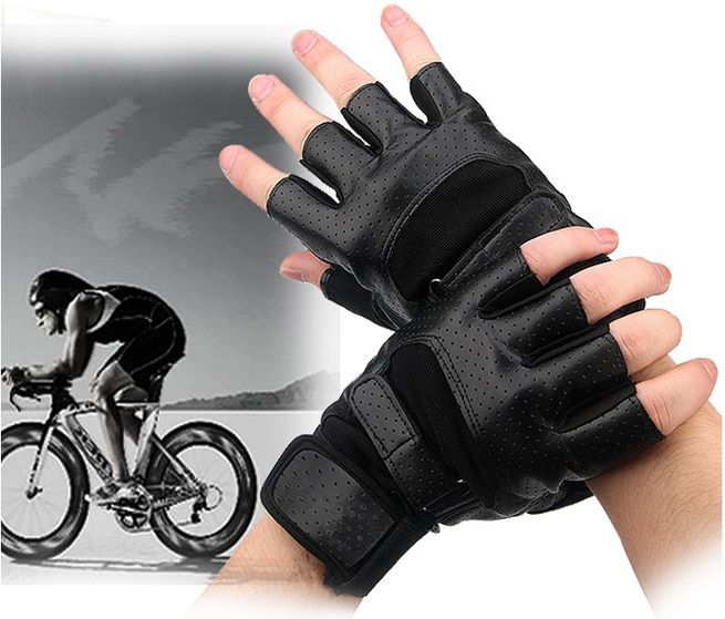 Mesh Weight Lifting Gloves: Gym Muscle Bodybuilding Black Mesh Fitness Power Lifting