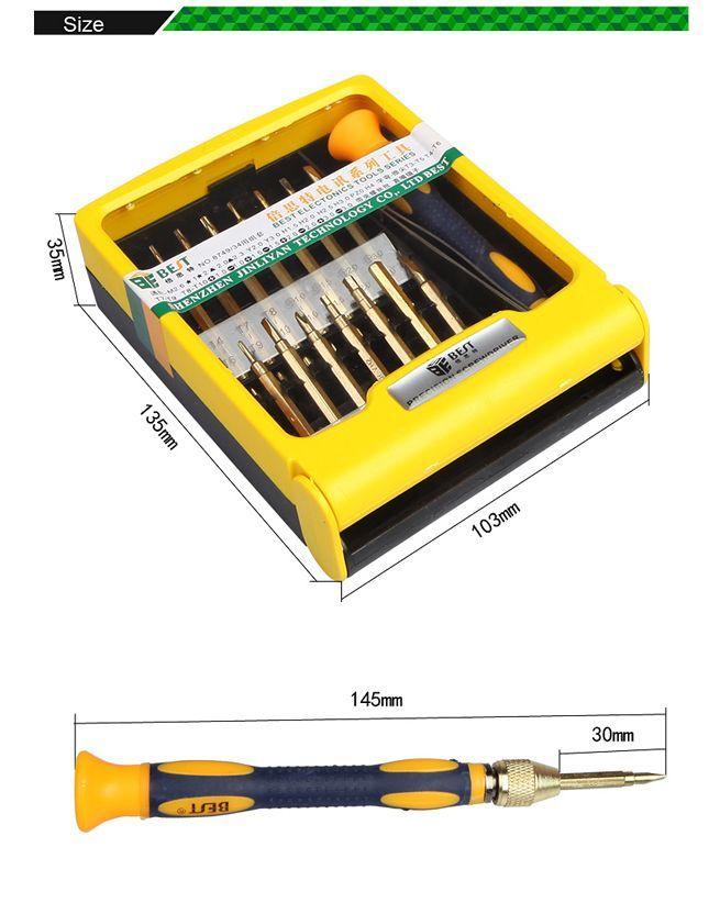 bst 8749 double head precision screwdriver set for maintain repair laptop ipad mobile phone. Black Bedroom Furniture Sets. Home Design Ideas