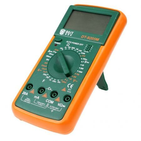 "BEST-9205M 3"" LCD Digital Multimeter - Orange"