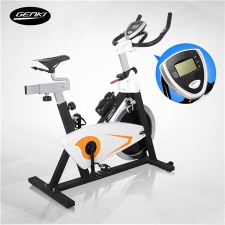 Genki 20kg Stationary Exercise Bike with Pulse Sensors-Yellow