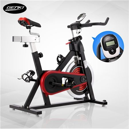 GENKI Stationary Fitness Bike with 18kg Flywheel