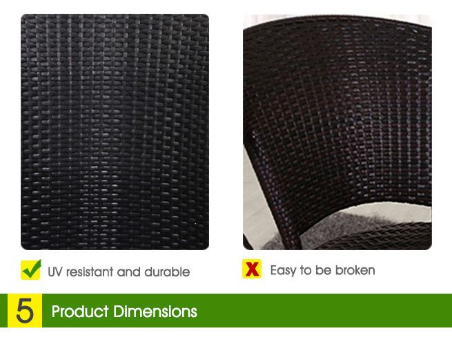 6pc Black Wicker Lounge Furniture Set Crazy Sales