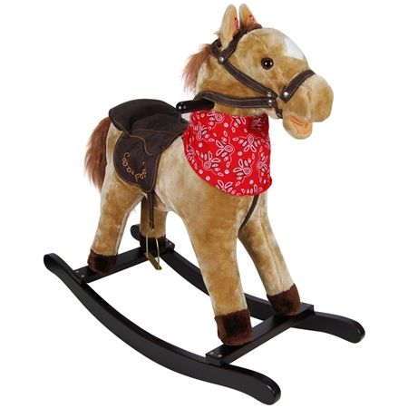 Brown Rocking Horse With Sounds Amp Movement Crazy Sales