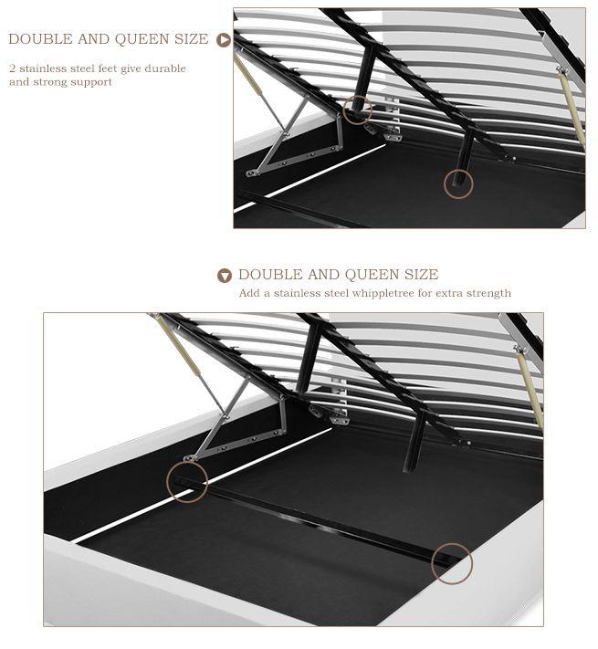 ... Black Gas Lift Storage Bed - Queen ...  sc 1 st  BestDeals.co.nz & Black Gas Lift Storage Bed - Queen - BestDeals.co.nz