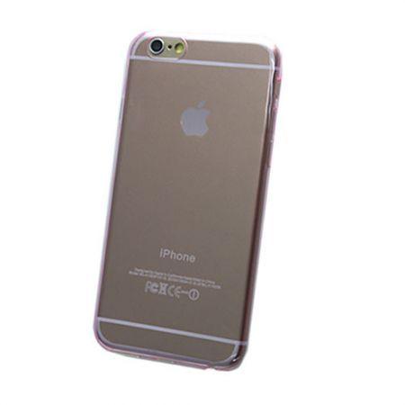 iPhone6 Plus Ultra-thin 0.3mm Transparent TPU Soft Case - Pink
