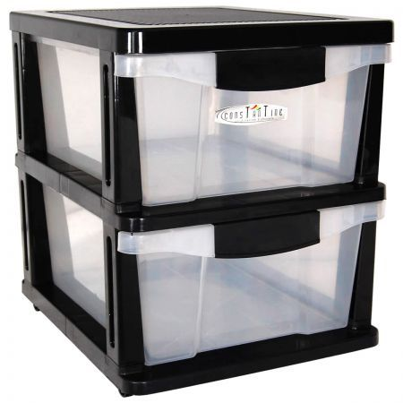 Drawers 2 Plastic Slide Shelves