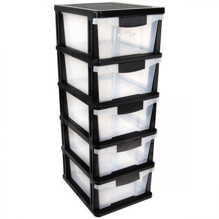 Drawers 4 Plastic Slide Shelves