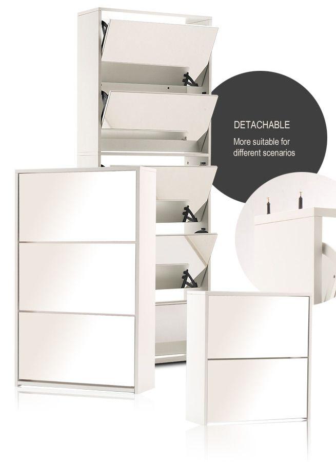 Mirrored Shoe Storage Cabinet Crazy Sales