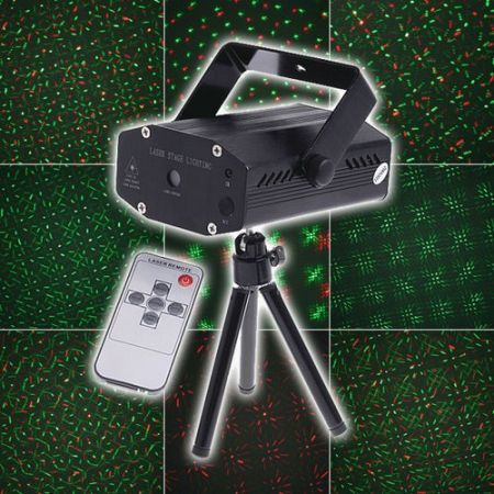 Multicolor Moving Party Stage LED Laser Light Projector with Remote