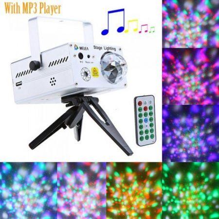 2in1 LED Crystal Ball u0026 Mini Laser Stage Lighting Projector DJ Light w/ Mp3 Player  sc 1 st  Crazy Sales & 2in1 LED Crystal Ball u0026 Mini Laser Stage Lighting Projector DJ ... azcodes.com
