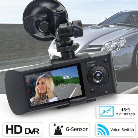 Dual Car HD Vehicle GPS Logger Dash Crash Camera Video Recorder DVR G-Sensor