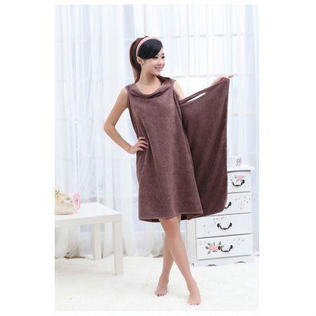 Magic bath towel bathrobes bath skirt dress coffee crazy for Bathroom dress