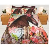 Queen Bed Horse Quilt Cover Set