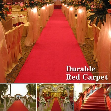 Red Carpet Runner Wedding Party Decoration 5m X 1m