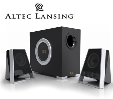 Altec Lansing VS2621 2.1 Three-Piece Speaker System 28W RMS