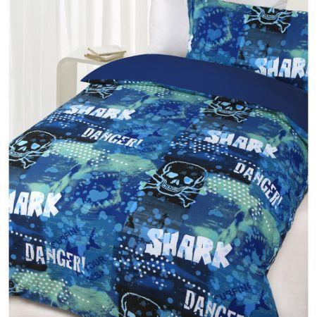 Glow In The Dark Single Bed Danger Shark Quilt Cover Set   Crazy Sales : shark quilt cover - Adamdwight.com