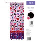 Glow in the Dark China Doll Tab Top Curtains
