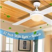 White 52'' Ceiling Fan with Light