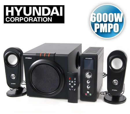 Hyundai HY-Z-2500 Z Series 6000W (PMPO) 2.1+1 Ultimate Multimedia Speaker System - 5.25 inch Subwoofer & 2.75+1 inch Satellite Speakers with Remote Control