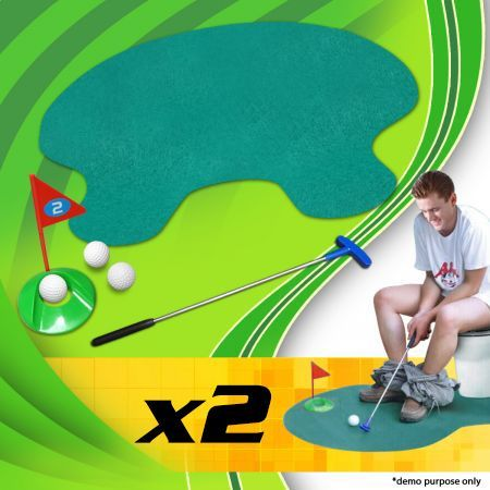 Buy 1 Get 1 Free! Novelty Toilet Golf Putting Green
