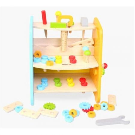 Multifunctional Workbench Dismountable Screw Nut Tool Pretend Play Toys