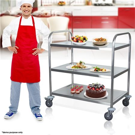 Trolley Stainless Steel Kitchen Service Cart