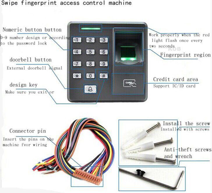 Zksoftware X7 Fingerprint Access Control Syetem FRID Card Fingerprint  Access Control Time Attendance