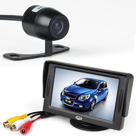 "Free Shipping! Car Rear View Kit 4.3"" TFT LCD Monitor + Night Vision Security Reversing Camera"